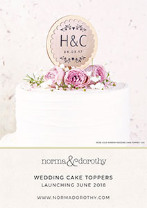 Cake Topper collection launches at norma&dorothy