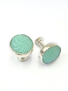 cufflinks large bluegreen