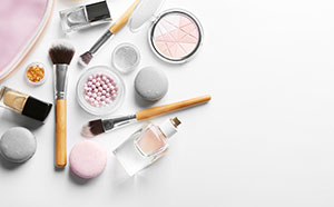 Why do we wear makeup? A bunch of makeup and brushes