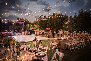 An outdoor wedding - 2019 wedding trends
