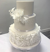 Stable Cottage Cakes Wedding cakes Surrey white peony