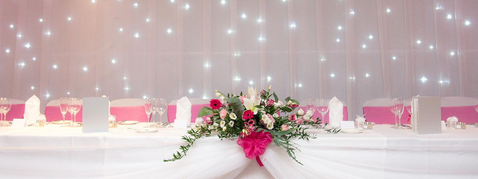 Thorpe Park - wedding venue - reception top table