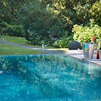 Armathwaite Hall Outdoors pool which is included in the Spa day
