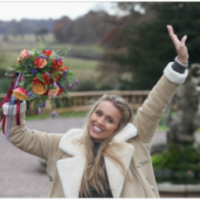 bride to be Hana Khan catches bouqet to win prizes from Bride The Wedding Show at Tatton Park