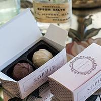 Giftboxes with Sophie design - perfect keepsakes for your guests
