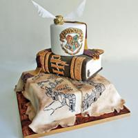Geeky wedding cake from Debbie Gillespie Cake Design
