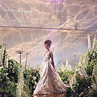 Kensington Palace wedding showcase – a wedding dress is modelled
