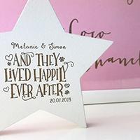 Personalised wedding keepsake