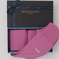 Peper Harrow pink personalised socks