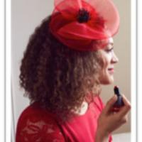 Poppy flower fascinator