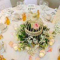 Spring wedding trends – a birdcage table centrepiece
