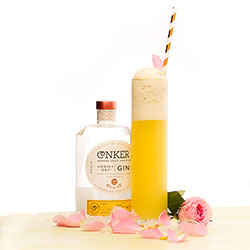 Tall yellow cocktail ready for Hen Party